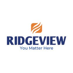 Graphic of Ridgeview's new visual identity and branding with You Matter Here located below the Ridgeview logo