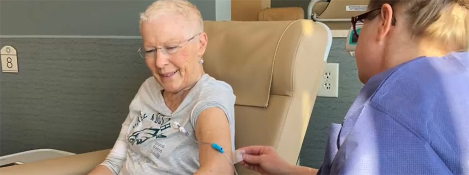 Ridgeview Cancer Care Patient Receiving Treatment
